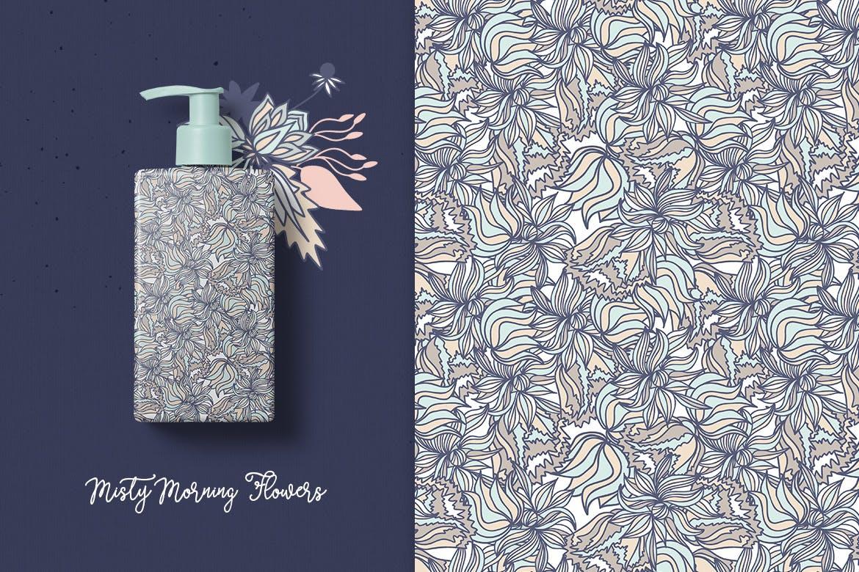 文艺优雅花纹图案矢量图案花纹Autumn seamless pattern插图(3)