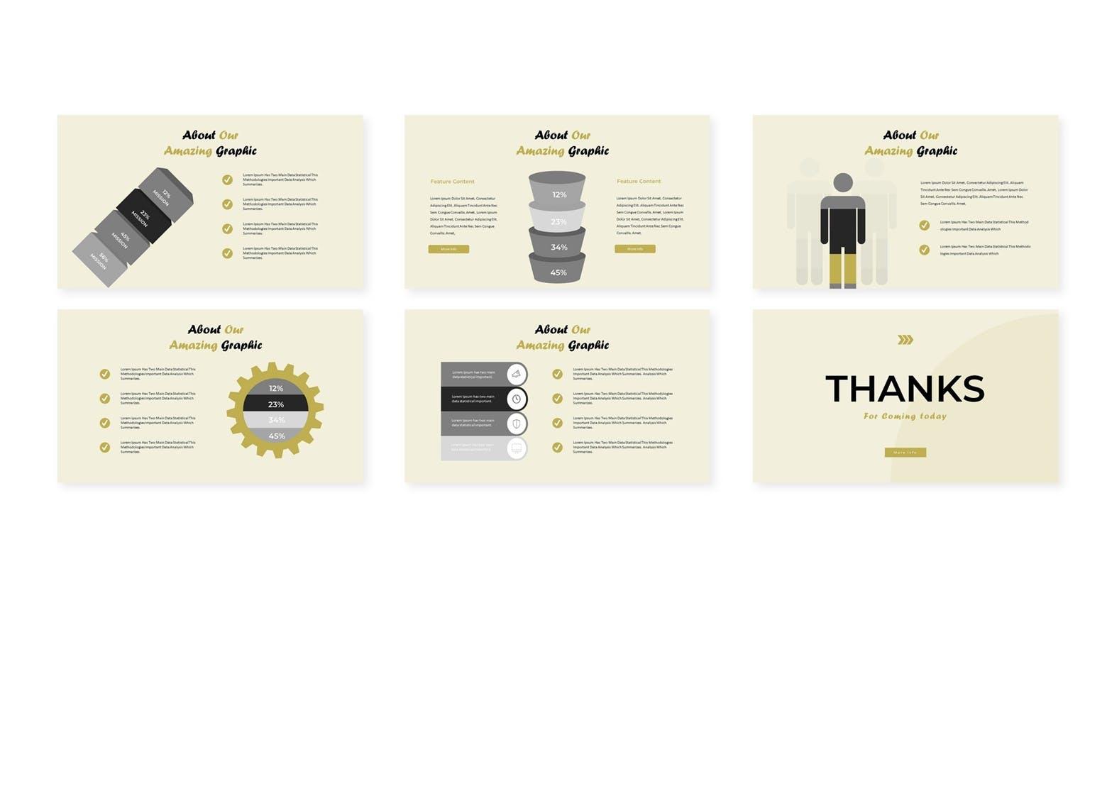 企业年度业绩报告分析汇报PPT幻灯片模板Moda Google Slides Template插图(3)