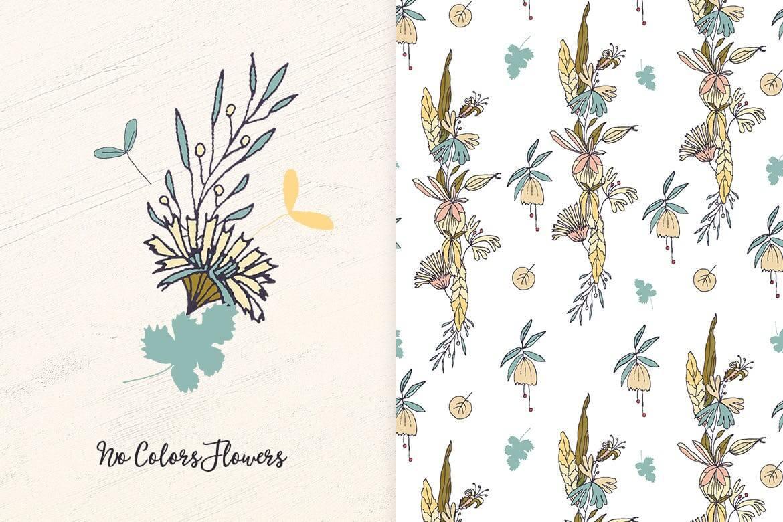 企业品牌纹理印刷装饰图案素材No Colors Flowers插图(3)