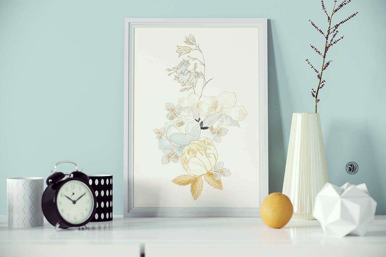 婚礼素雅白色花系装饰图案素材装饰图案下载November Sky Flowers插图(3)