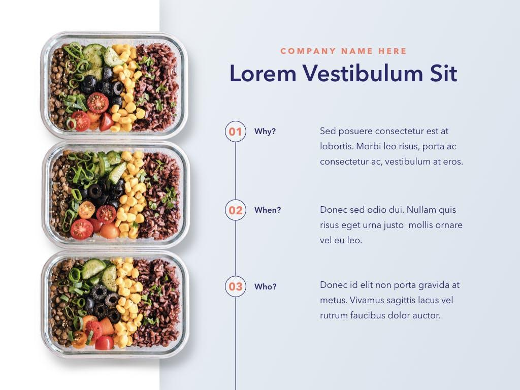西餐料理品牌新菜品介绍PPT幻灯片模板Nutritious PowerPoint Template插图(3)