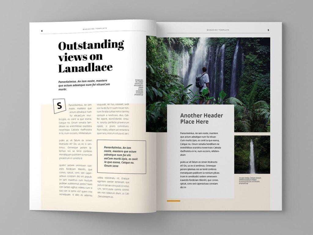 大自然主题/森林/旅游主题杂志模板Panorm Magazine Template插图(3)