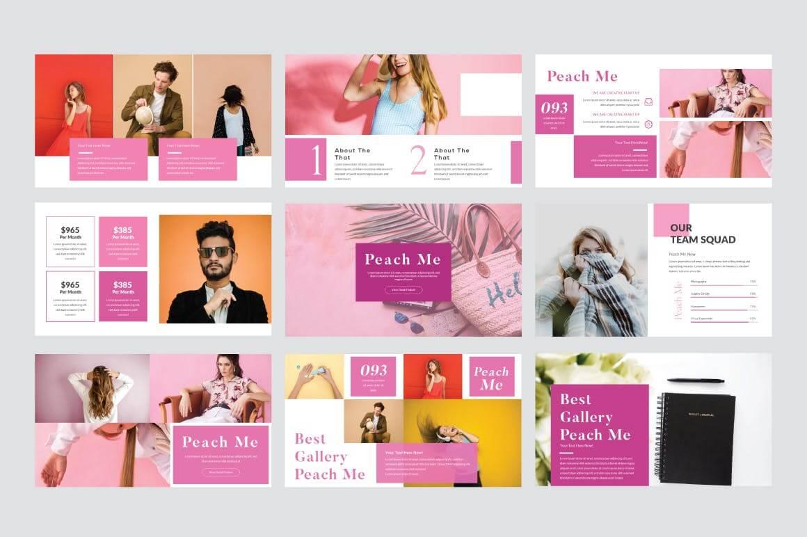 糖果色现代风格PPT幻灯片模板下载Peachme Creative Powerpoint Template插图(3)