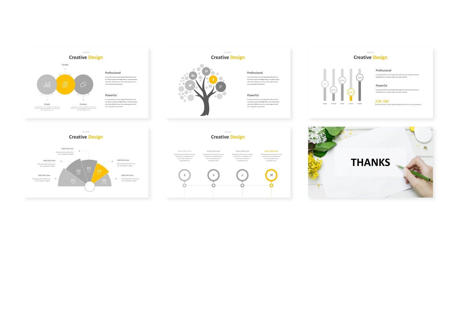 多用途企业业务演示PPT幻灯片模板下载Pepper Google Slides Template插图(3)