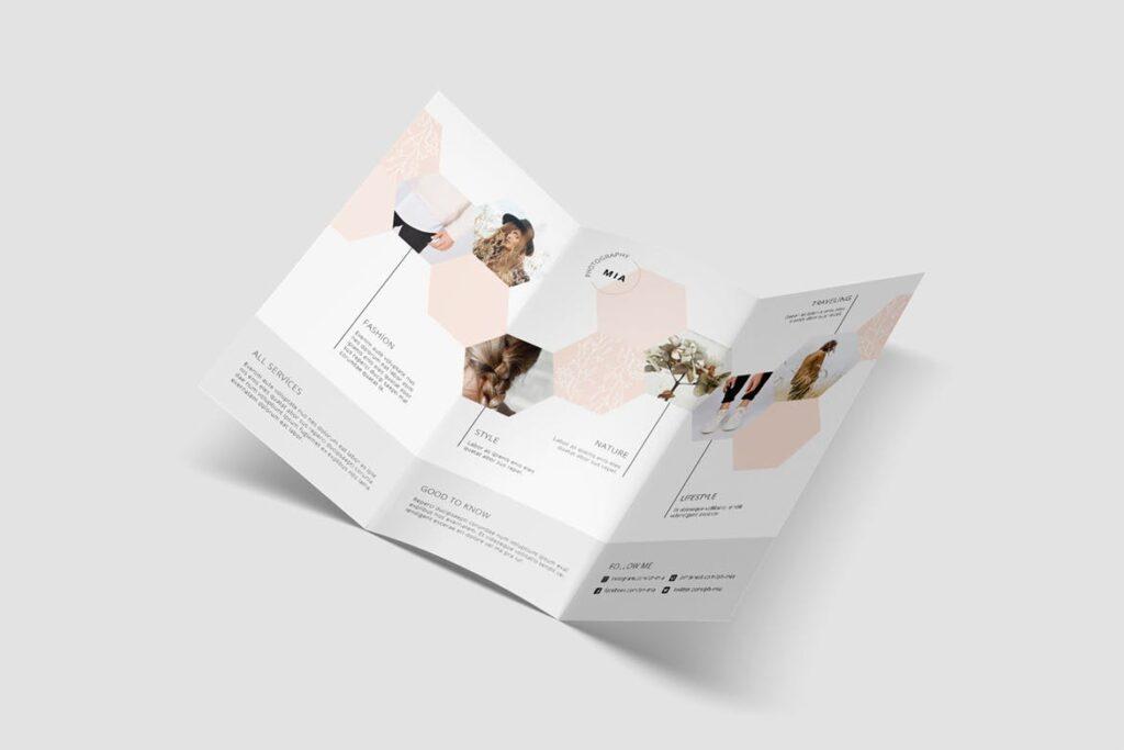 企业多功能组合小册子模板素材Portfolio Trifold Flyer插图(3)