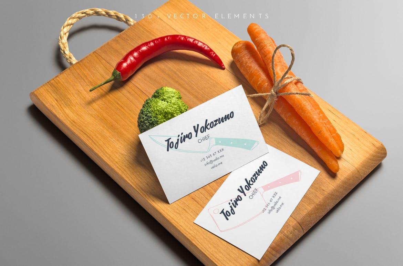 美食餐饮品牌宣传手绘矢量图案素材Ratatouille Sketched插图(3)