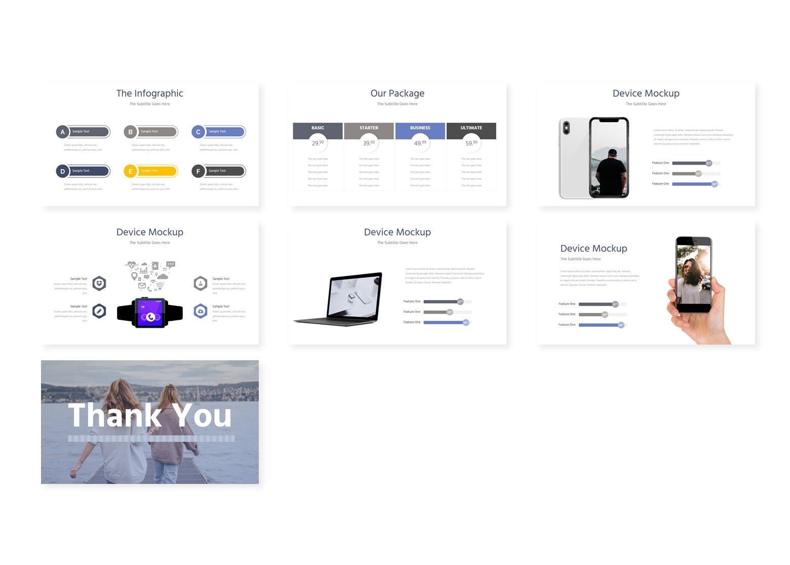 企业多用途演示文稿模板Riazo Google Slide Template插图(3)
