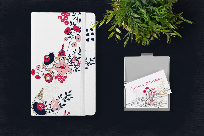 卡片婚礼邀请装饰图案花纹素材下载Silver Flowers插图(3)