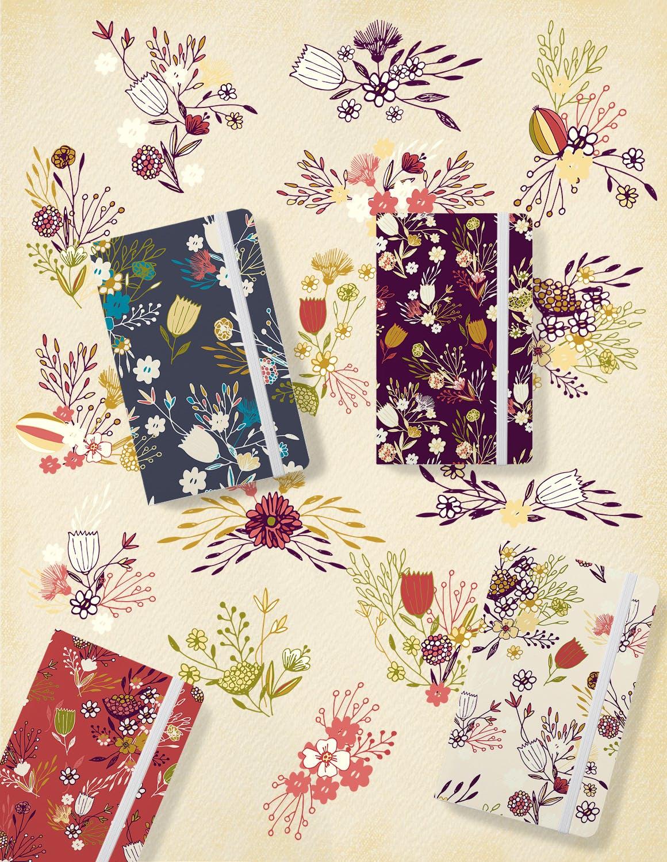 素雅植物图案花纹纹理素材展示Sketch Flowers插图(3)