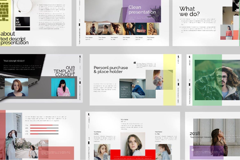 青春服装展览演示文稿模版trenght White Google Slide插图(3)