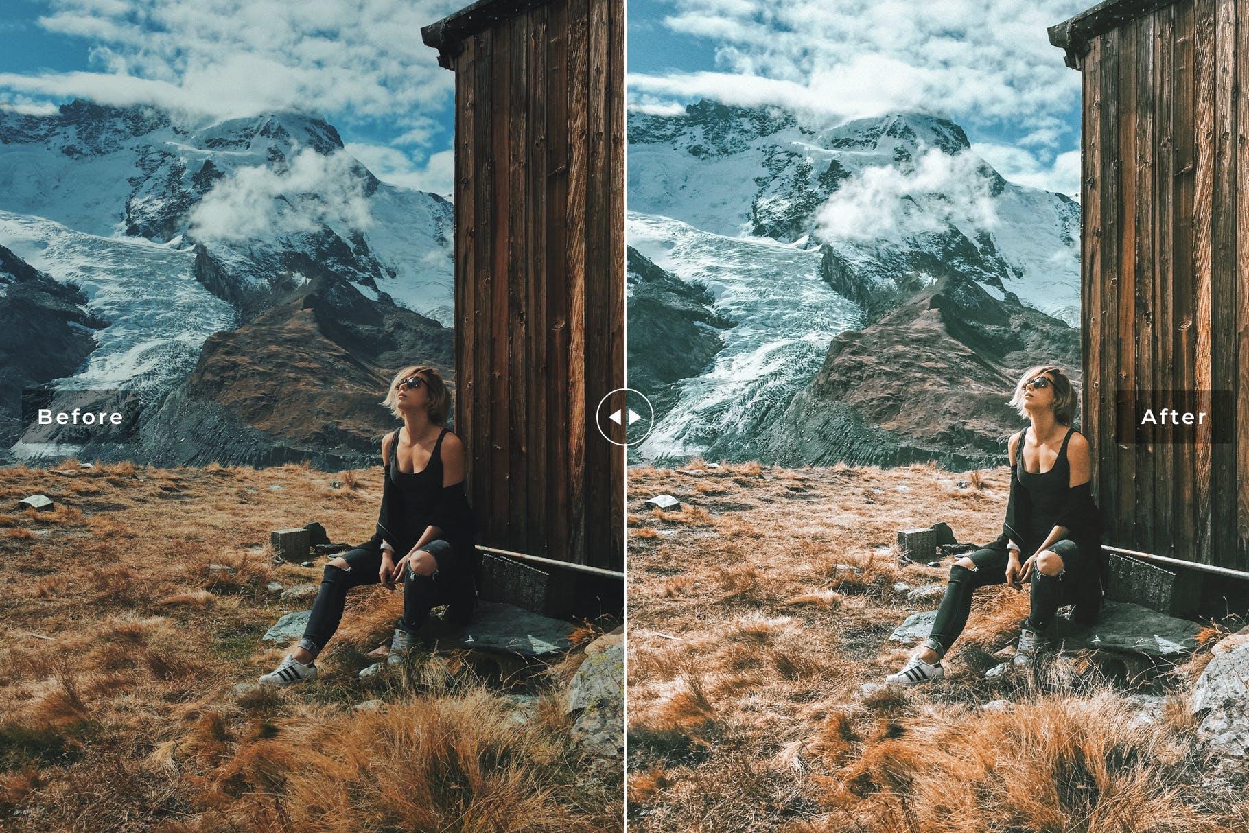 冬天色调冷色系照片效果处理LR预设Switzerland Mobile Desktop Lightroom Presets插图(3)