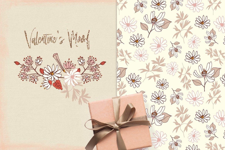 情人节主题花卉图案模板素材Valentine's Mood插图(3)