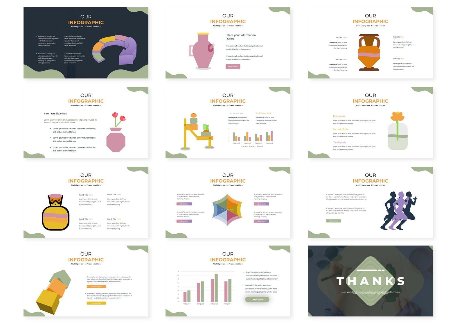 商务营销策划幻灯片模板下载Vaseque Keynote Template插图(2)