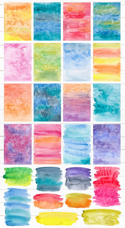 生动和明亮的水彩纹理Vivid & Bright Watercolor Textures插图(3)