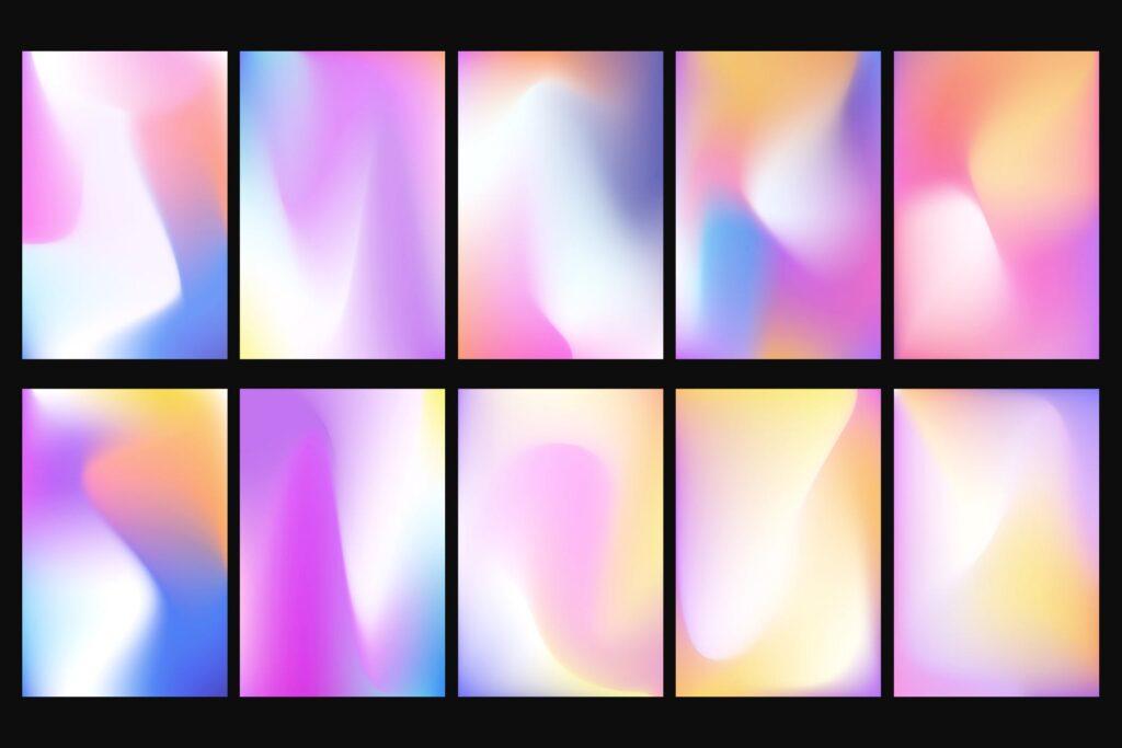 多彩渐变背景手机壁纸渐变背景主题元素下载Vivid Gradients Backgrounds插图(3)