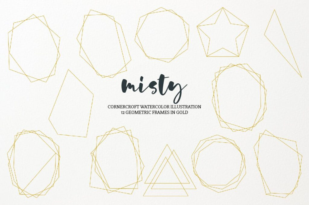 水彩画朦胧创意水墨画图案纹理装饰Watercolor Illustration Misty插图(3)