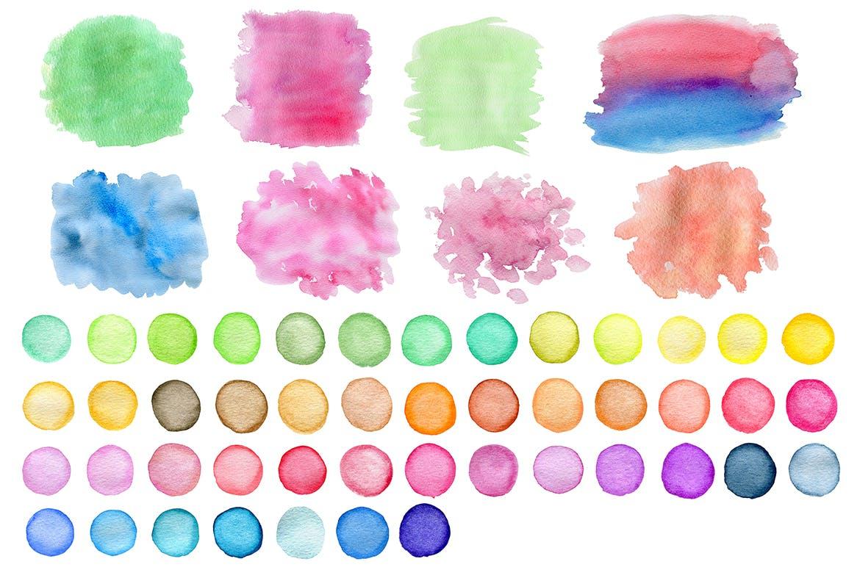 水彩墨迹笔触装饰元素下载Watercolor Textures and Patterns插图(3)