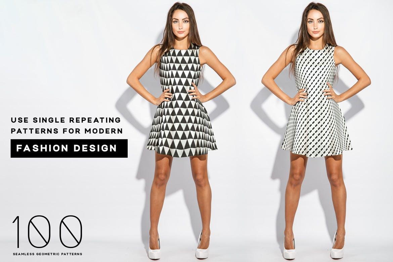 企业品牌辅助图案装饰元素应用场景100 seamless geometric patterns插图(4)