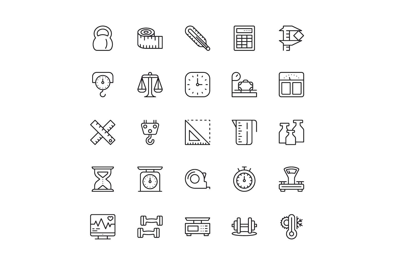 150个线性图标设计源文件下载150 Line Icons插图(4)