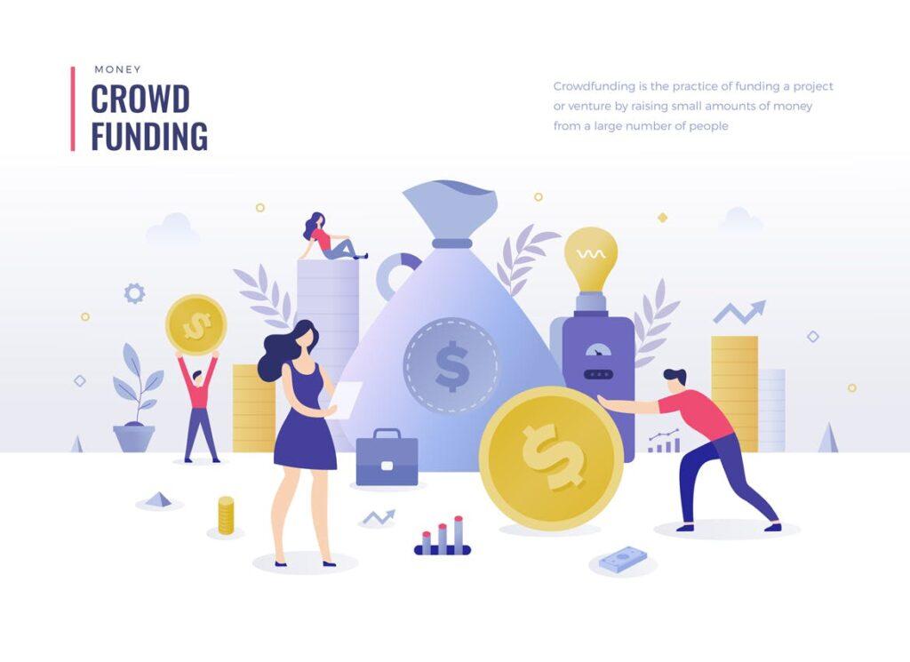 金融货币扁平风场景创意插图4 Money Finance Flat Illustration Concepts插图(4)