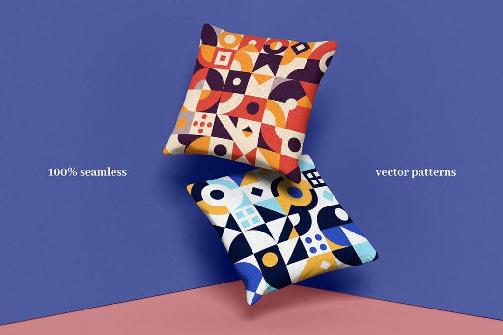 8个有趣和多彩的创意几何平面构成图案Abstract Geometric Patterns插图(4)