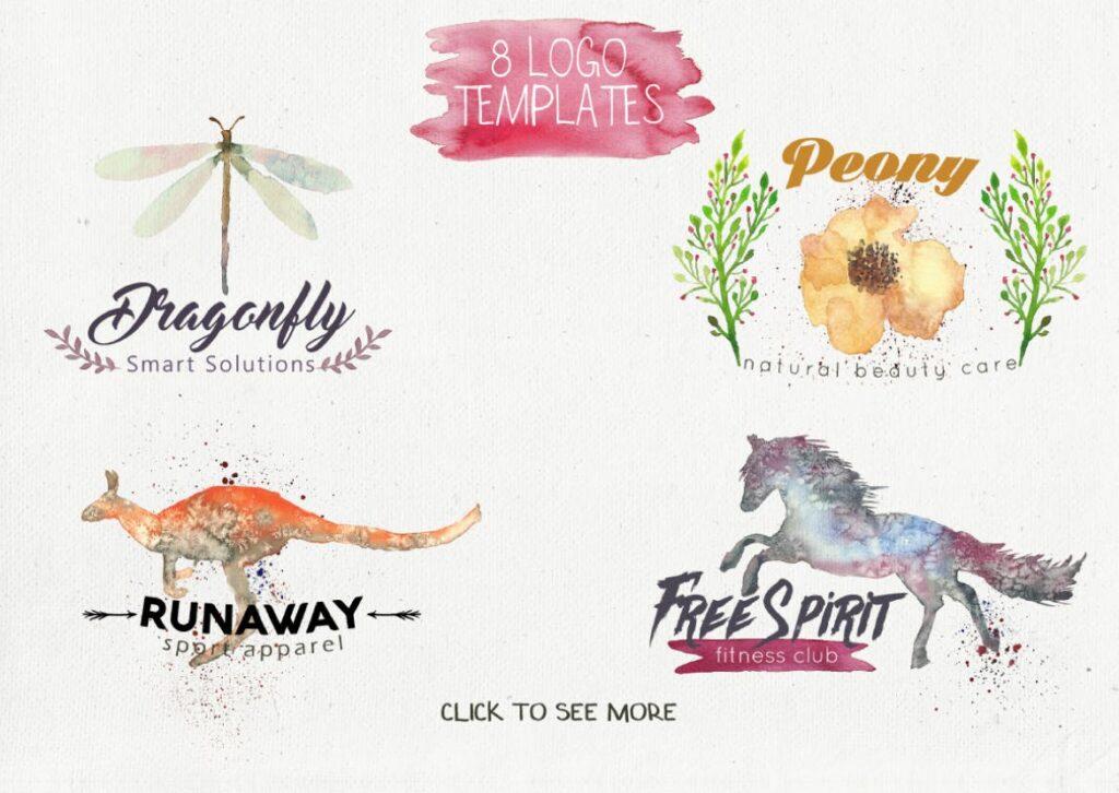 45个水彩画动物剪影的合集Animal Zone插图(3)