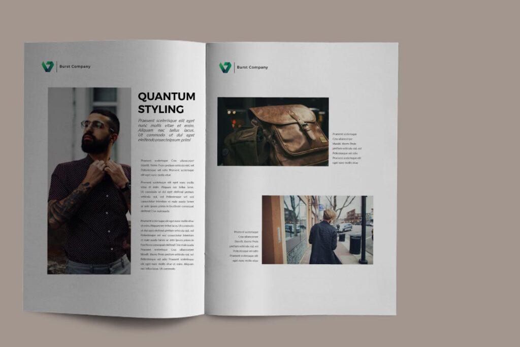 工作室产品介绍画册模板BURST Brochure Corporate插图(4)