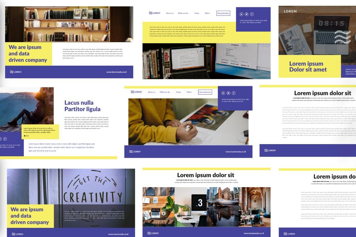 市政工程类项目汇报创意多用途模板设计PPT幻灯片模板Bringmeon Google Slide插图(4)