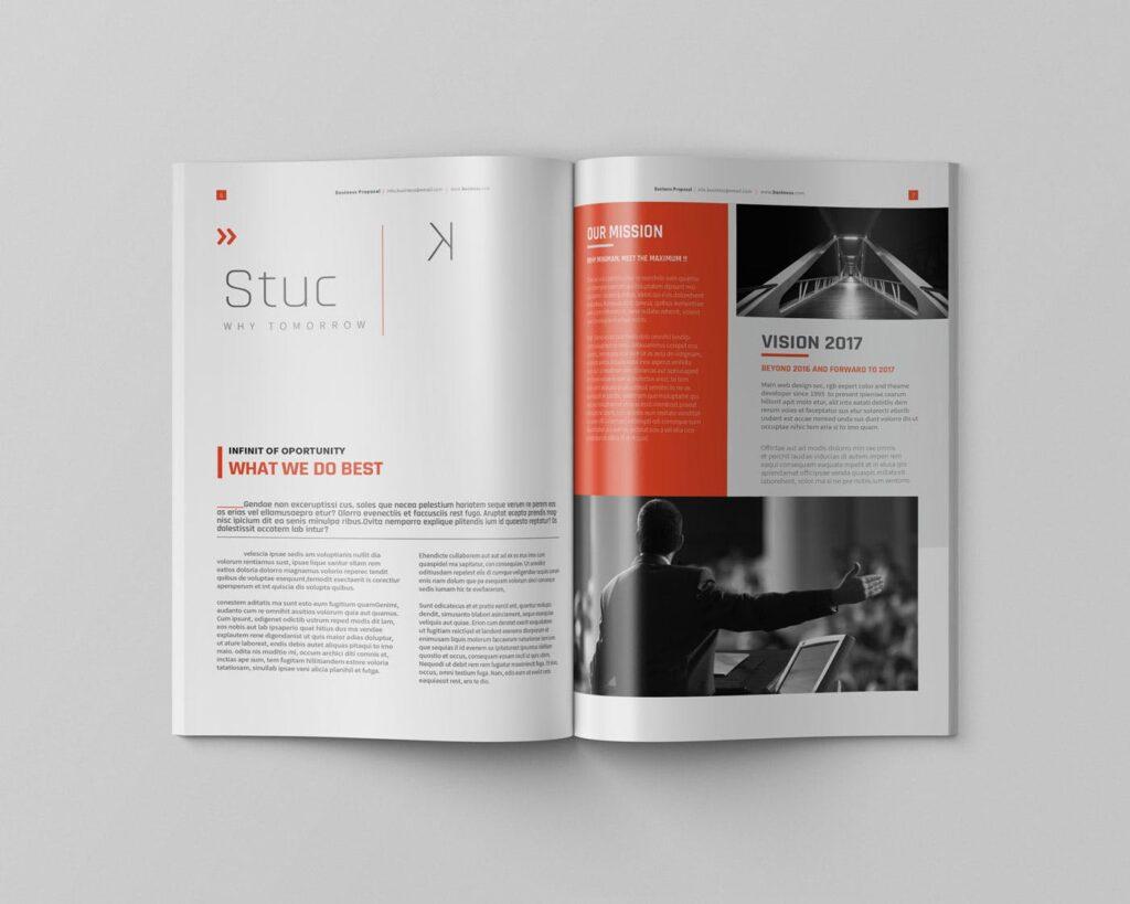 精致企业服务类/产品画册杂志模板Brochure WBYXNN插图(3)