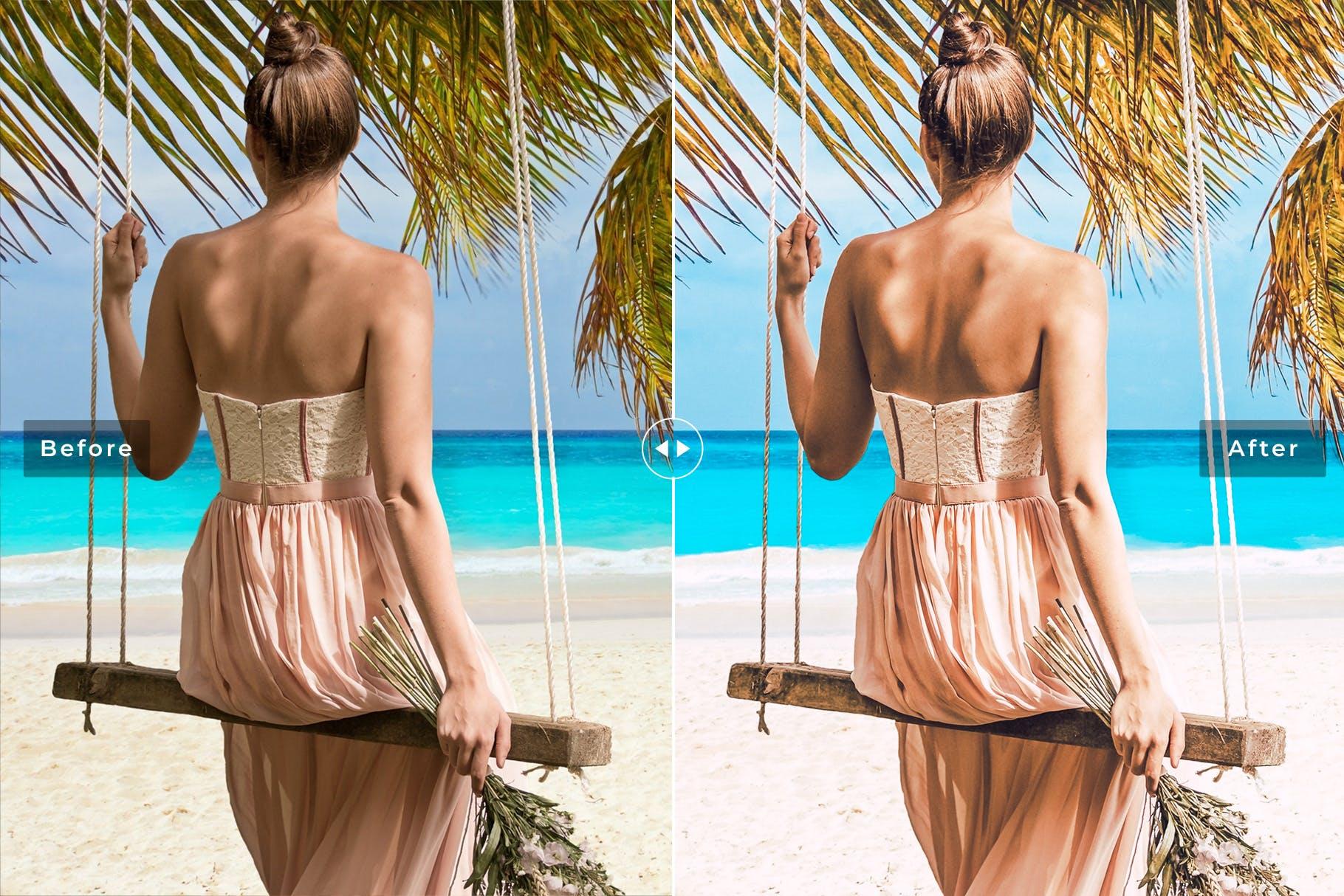 海滩冲浪系列调色照片效果处理LR预设Caribbean Mobile Desktop Lightroom Presets插图(4)