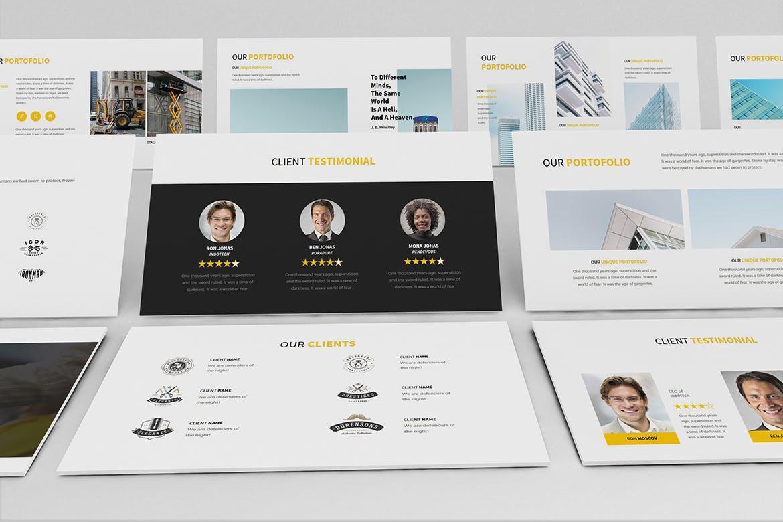 建筑行业团队介绍幻灯片模板展示Construction Powerpoint Presentation插图(4)