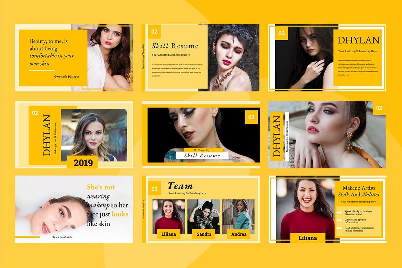 美容院市场营销策划主题幻灯片模板下载Dhylan Beauty Salon Keynote插图(4)