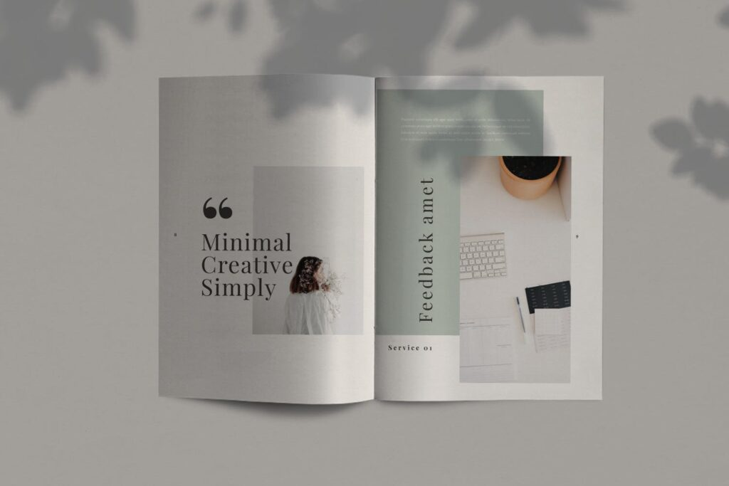 简约时尚工作室产品介绍主题画册模板Fairy Lookbook Brochure Business Company Xyuzvt6插图(4)