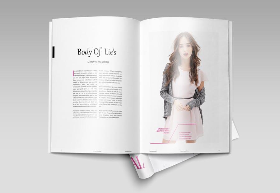 模特经纪或时装展览杂志模板素材Fashion Magazine R8C6UK插图(4)