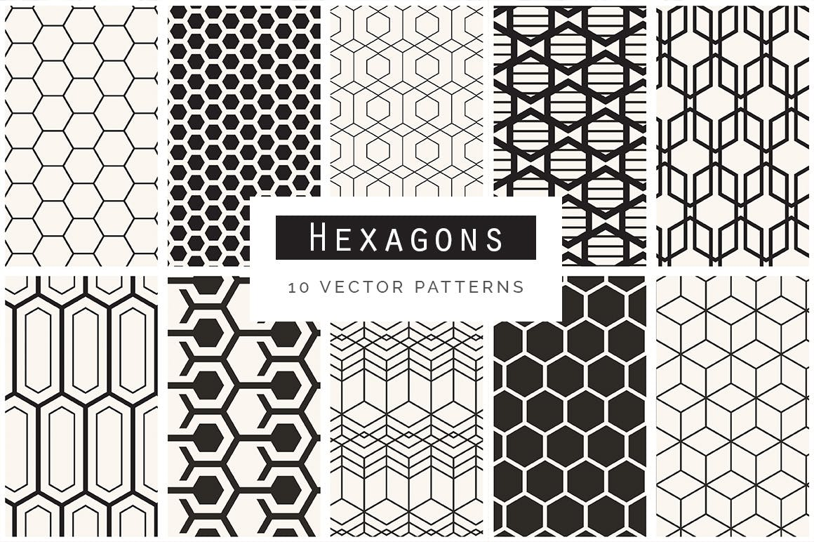 企业品牌几何图形多场景应用素材Geometric Seamless Patterns Bundle插图(4)