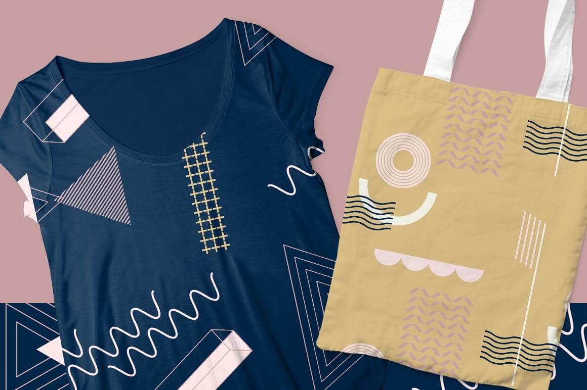 企业品牌服装图形几何风格装饰图案素材Girlboss Patterns插图(4)