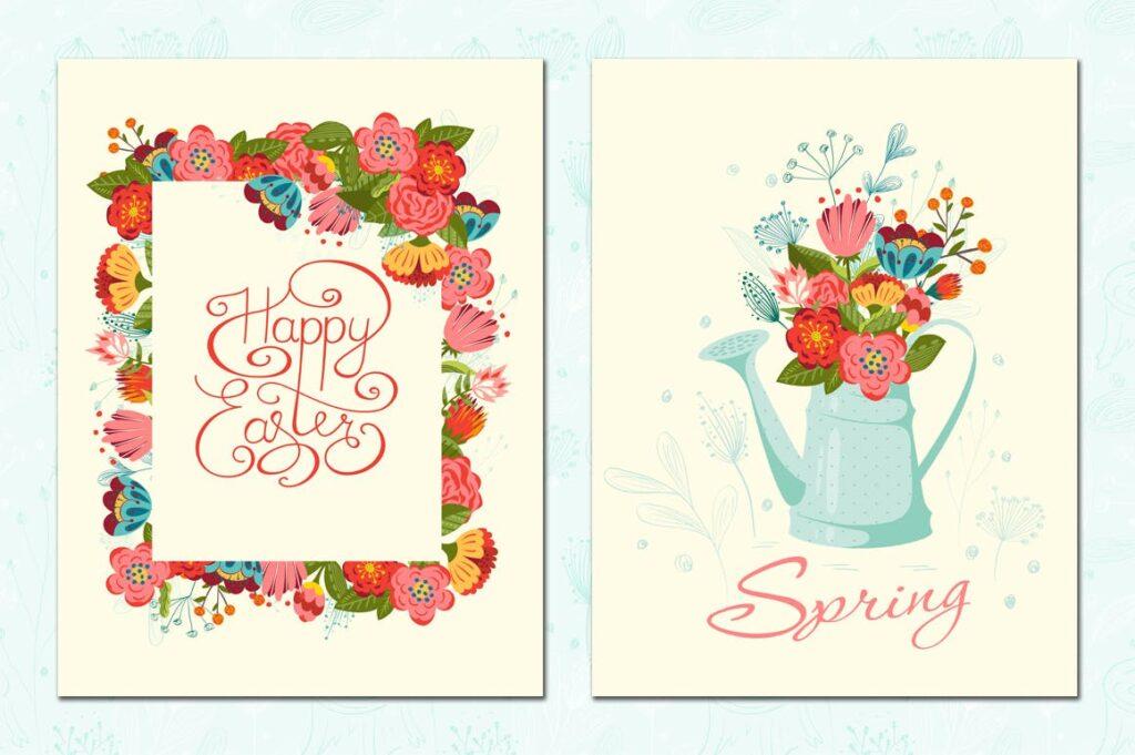 复活节贺卡装饰图案和海报纹理图案Happy Easter插图(4)