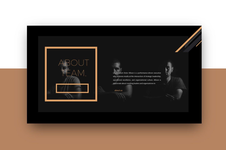 时尚品牌产品发布会PPT幻灯片模板IRISH Brown Keynote插图(4)