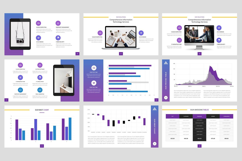 互联网IT公司的主题演讲模板Informatics IT Company Keynote Template插图(4)