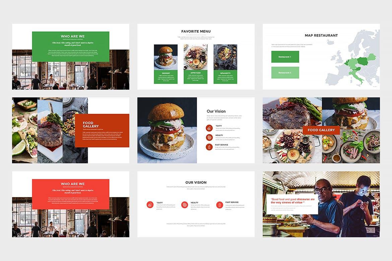西餐美食料理主题餐厅品牌幻灯片模板Innodafood Keynote Presentation插图(4)