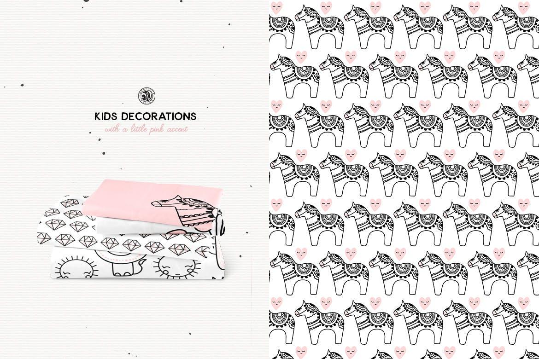 儿童装饰品手工制作的剪贴画图案花纹素材下载Kids Decorations插图(4)