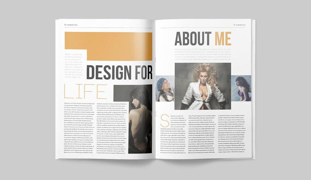 写真集/采访/画廊主题杂志模板下载Magazine Template 6N4PTQJ插图(4)