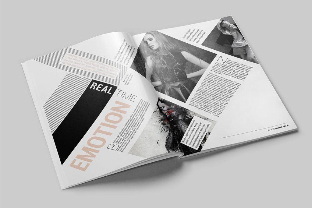时尚潮流/画廊主题杂志模板Magazine Template SLCJBWR插图(4)
