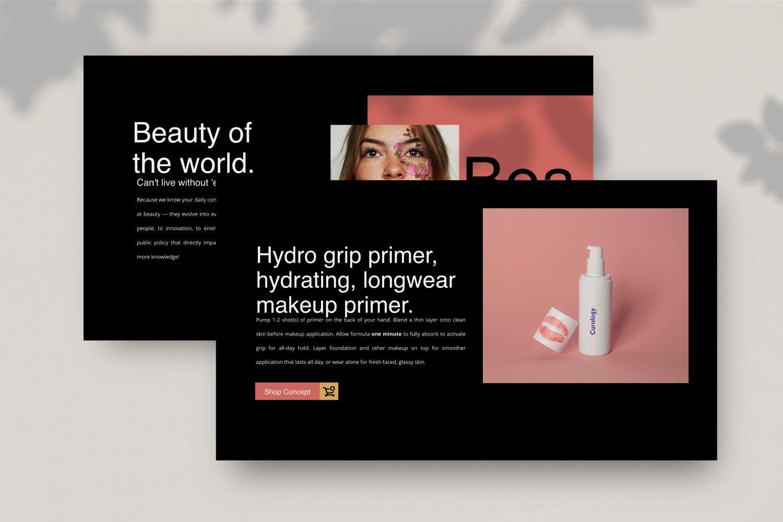 高端化妆品新品发布会PPT幻灯片模板Make Over Google Slide插图(4)