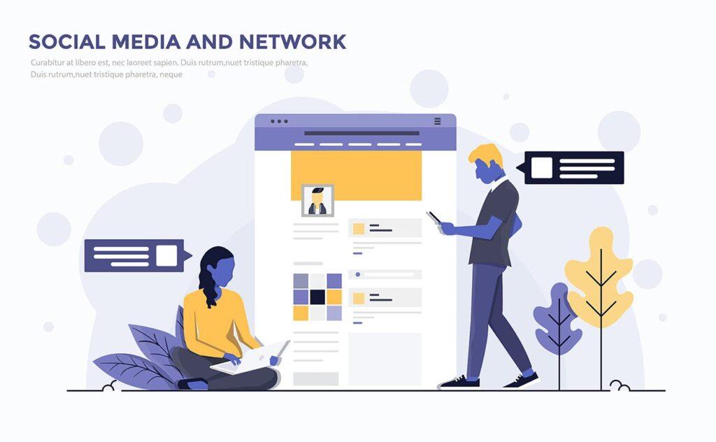 企业市场销售数据汇报场景插画素材下载Modern Flat design people and Business concepts Kxhba7插图(1)