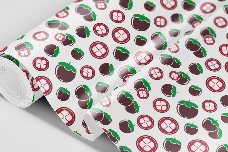 餐饮品牌包装装饰图案水果创意插画元素下载Natural Fruit Juices Seamless Patterns Vol 2插图(4)