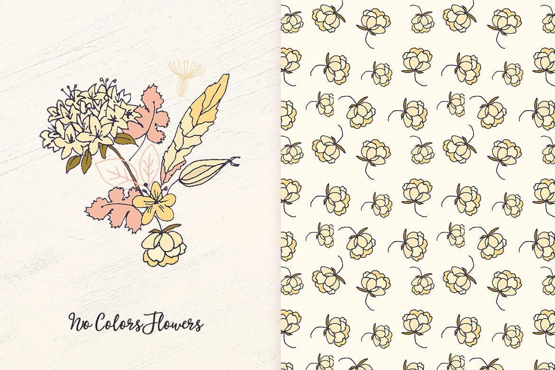 企业品牌纹理印刷装饰图案素材No Colors Flowers插图(4)