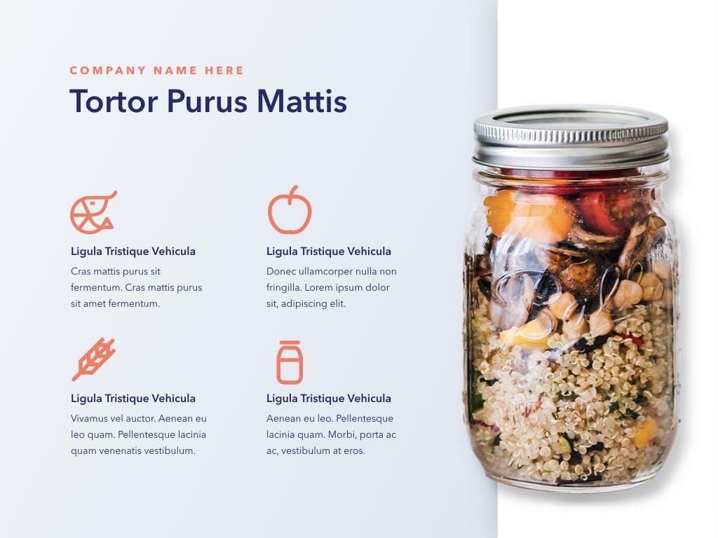 西餐料理品牌新菜品介绍PPT幻灯片模板Nutritious PowerPoint Template插图(4)