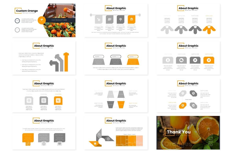 多用途演示模板宣讲主题演讲PPT幻灯片模板Oranges Google Slides Template插图(4)