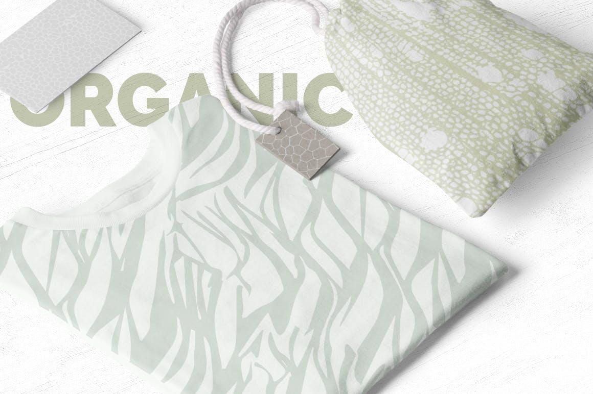 自然纹理大自然线条图案组合展示下载Organic Patterns 2 color palettes插图(4)